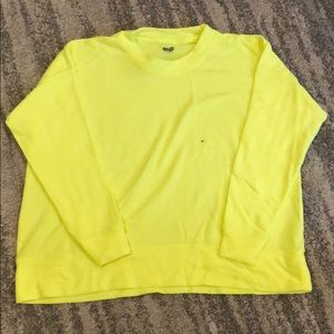 Neon yellow Arie thin sweater